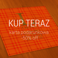 karta podarunkowa -50% off