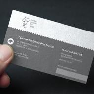 papier czerpany szary
